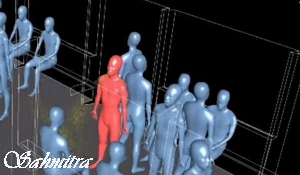 Simulasi tiga dimensi (3D) mengungkapkan bahwa virus Corona begitu mudah menyebar di transportasi umum.