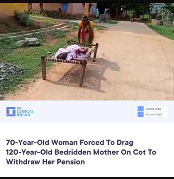 Wanita Tua Ini Seret Ibunya yang Terkulai Lemas, Demi Sesuap Nasi!