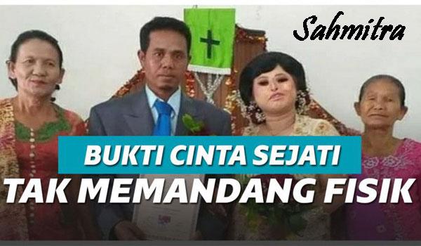 Inilah Cinta Tak Selalu Memandang Fisik, Pernikahan Viral Sortalina!