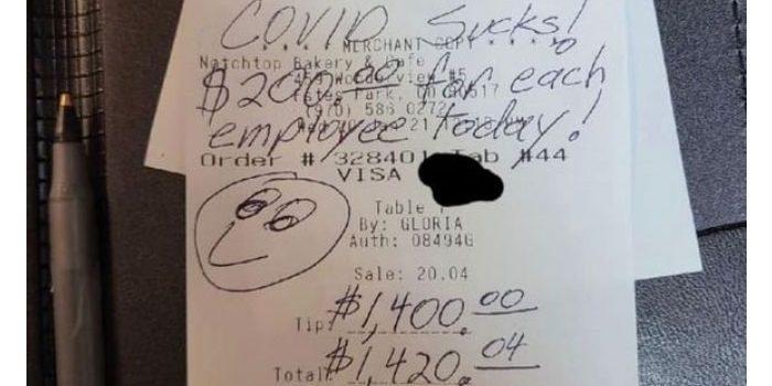 Pengunjung Kafe Tinggalkan Uang Tip Jutaan, Alasannya Kesal Ada Covid-19